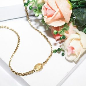 Fossil Gold Tone Lock Engraved Chain